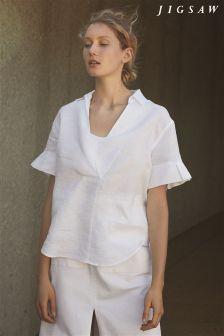 Jigsaw White Linen Shirt