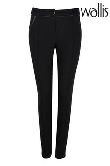 Wallis Petite Black Ponte Trousers