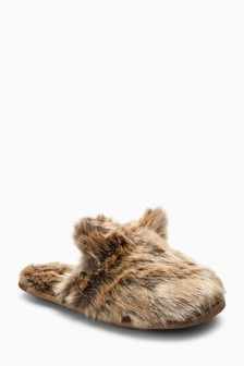 Faux Fur Bunny Slippers