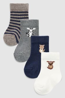 Character Socks Four Pack (Younger)