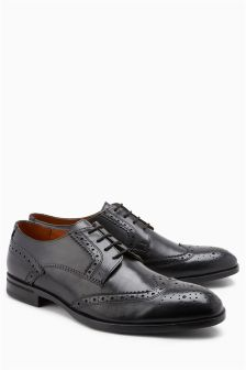 Wide Fit Derby Brogue