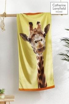 Giraffe Beach Towel by Catherine Lansfield