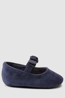 Velvet Pram Shoes (0-18mths)