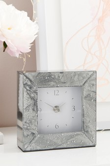 Frosted Glass Mantle Clock