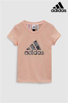 adidas Pink Logo Tee