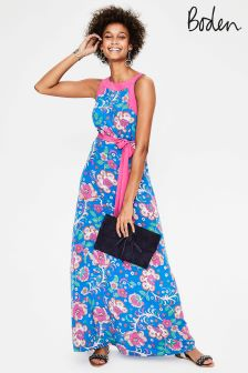 Boden Blue Averie Silk Dress