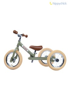 2-In-1 Green Vintage Balance Bike by Hippychick