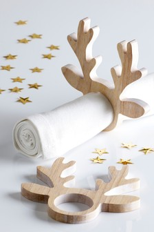 Set of 2 Stag Napkin Rings