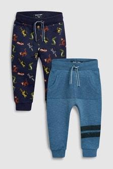 2 пары спортивных брюк со сплошным принтом Digger (3 мес.-6 лет)
