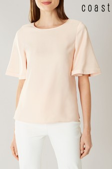 Coast Pink Arlington Angel Sleeve Top