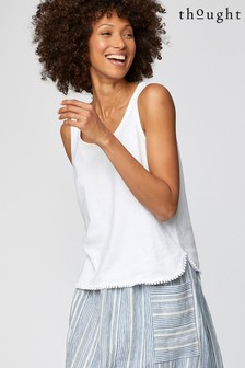 Thought White Florianne Vest Top