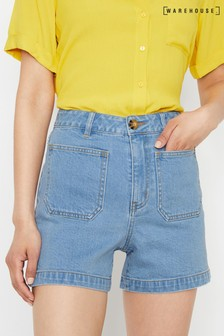 Warehouse High Waisted Denim Short