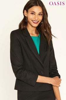 Oasis Camila Split Detail Suit Jacket