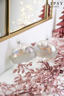 Lipsy Set of 2 Glass Baubles