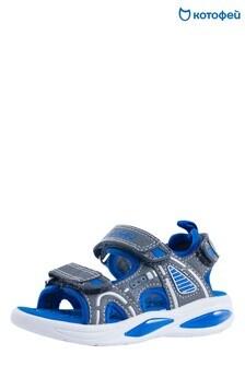 Сине-серые сандалии с 2 ремешками Kotofey