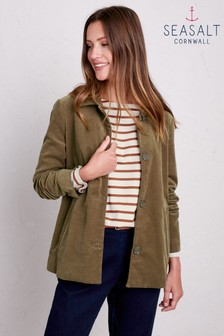 Seasalt Green Country Walk Dark Seagrass Jacket