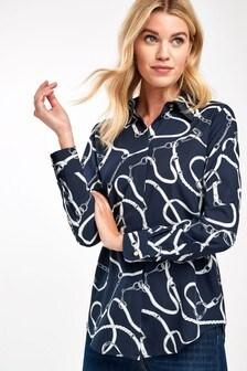 Lauren Ralph Lauren® Navy Bridle Print Kristy Shirt