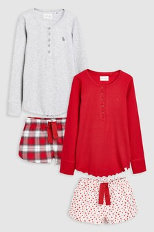 Check Woven Short Pyjamas Two Pack (3-16yrs)