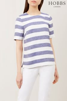 Hobbs Blue/White Aria Stripe Top