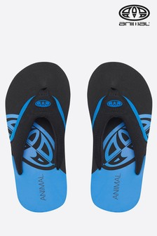 Animal Blue Jekyl Slice Boys Flip Flop