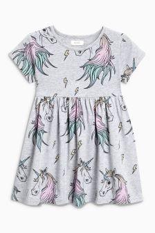 Unicorn Printed Dress (3mths-6yrs)