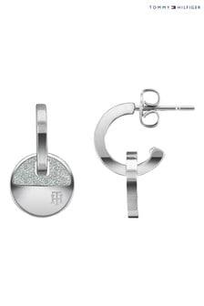 Tommy Hilfiger Silver Tone Stainless Steel Earrings