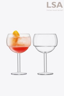 Set of 2 LSA International Mixologist Balloon Glasses