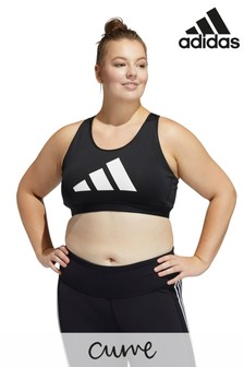 adidas Curve 3 Stripe Don't Rest Light Support Sports Bra