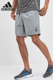 adidas Run Saturday Grey Printed Shorts