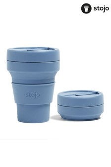 Stojo Blue Collapsible Pocket Cup