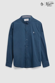 Original Penguin® Blue Long Sleeve Poplin Shirt