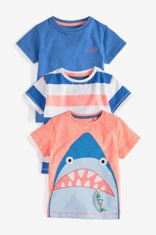 Shark T-Shirts Three Pack (3mths-7yrs)