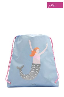 Joules Blue Drawstring Bag