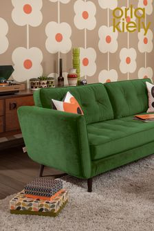 Orla Kiely Ivy Small Sofa with Walnut Feet