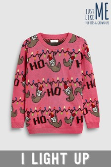Older Kids Christmas Sloth Jumper (3-16yrs)