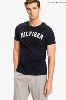 Tommy Hilfiger - T-shirt iconica per il tempo libero in cotone