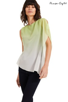 Phase Eight Yellow Camille Ombre Top