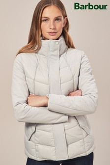 Barbour® Ice White Hayle Quilt Jacket