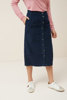 Cord Midi Skirt