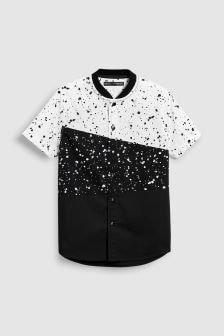 Paint Splat Spliced Short Sleeve Shirt (3-16yrs)