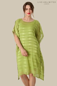 Live Unlimited Green Burnout Square Dress