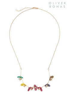 Oliver Bonas Gold Daisy Chain Flower Collar Necklace