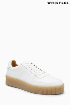 Whistles Deep Sole White Trainer