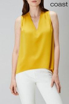 Coast Yellow Natalie Shell Top