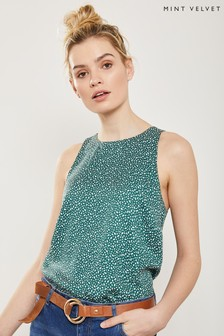 Mint Velvet Green Print Top