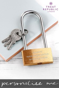 Personalised Padlock by Treat Republic