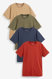 Colour Regular Fit Crew Neck T-Shirts Four Pack