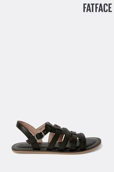 FatFace Black Grays Gladiator Sandal