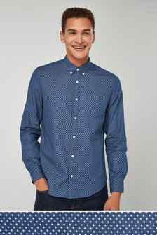 Рубашка с длинным рукавом и принтом