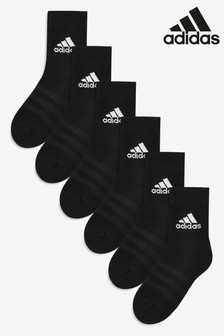adidas Kids Black Crew Socks Six Pack